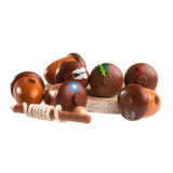 Wooden Acorns Lacing toy - PoppyBabyCo