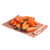 Educational Carrots Counters Play set of 12 in linen bag - poppybaby