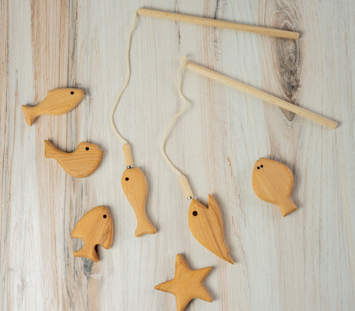 Wooden Magnetic Fishing Game for Kids