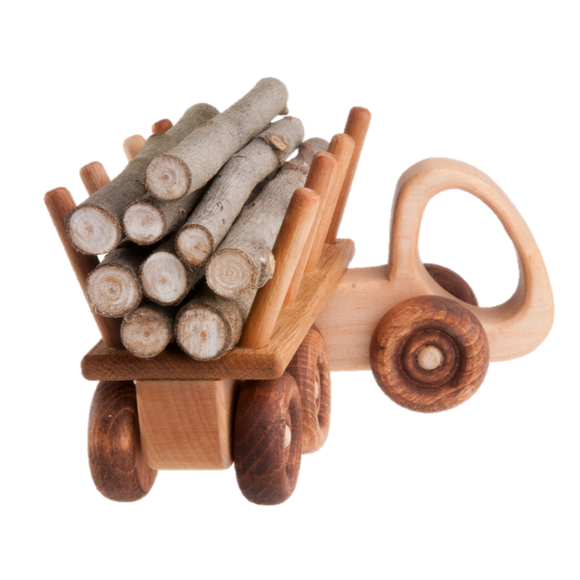 Wooden Logging truck toy - poppybaby