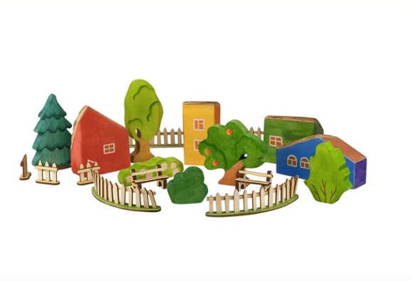 Wooden Scenery Set