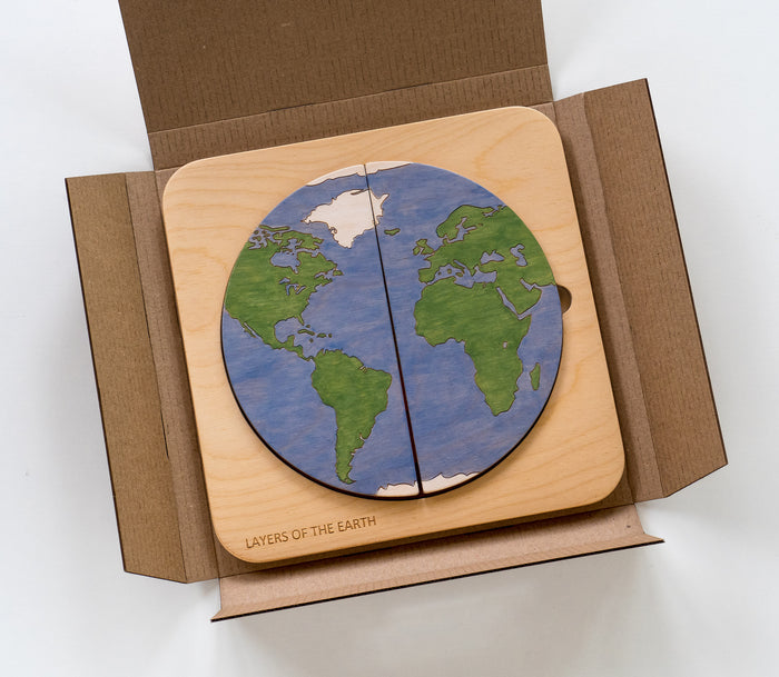 Planet Earth Layers Puzzle