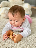 Montessori rolling rattle Wood Toy Chips Cylinder - poppybaby