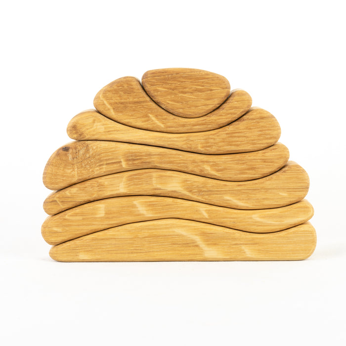 Natural Wood Stacking Toy