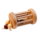Montessori rolling rattle Wood Toy Ball Cylinder - poppybaby