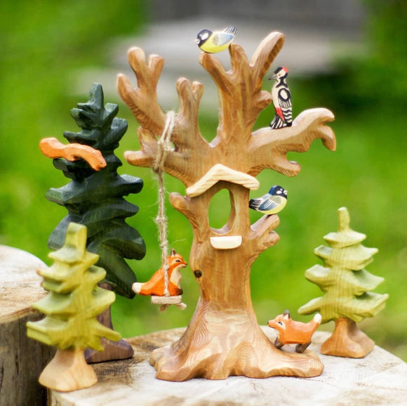 Handmade Wooden Old Bird Tree