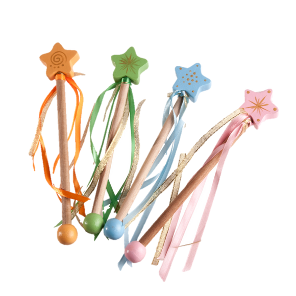 Magic Princess Wand for kids, Painted Star Wand - PoppyBabyCo