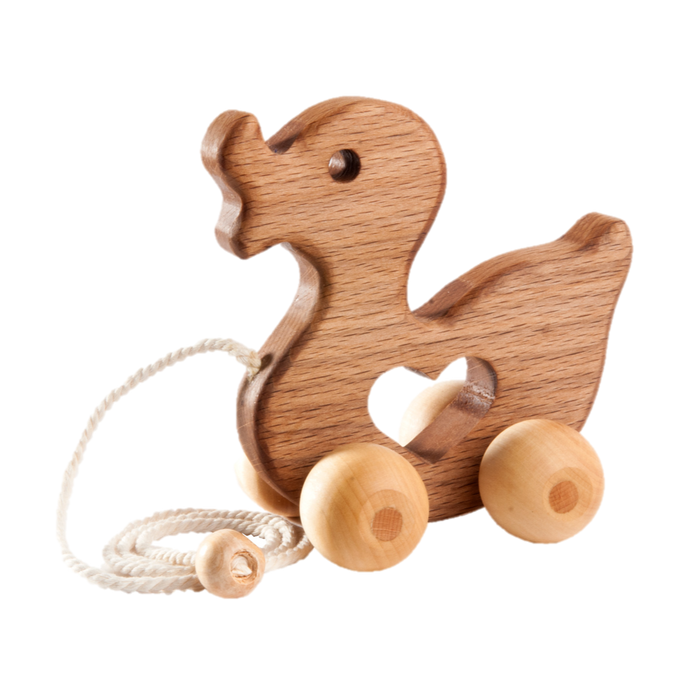 Wooden Duck Pull toy - PoppyBabyCo