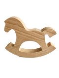 Natural Wooden Rocking Horse Toy - poppybaby