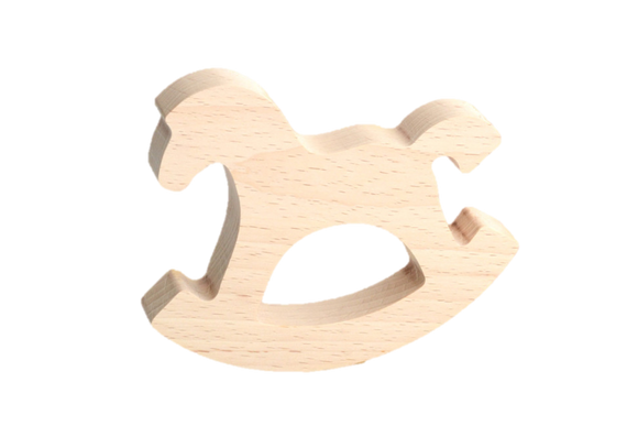 Natural Wooden Rocking Horse Toy - PoppyBabyCo