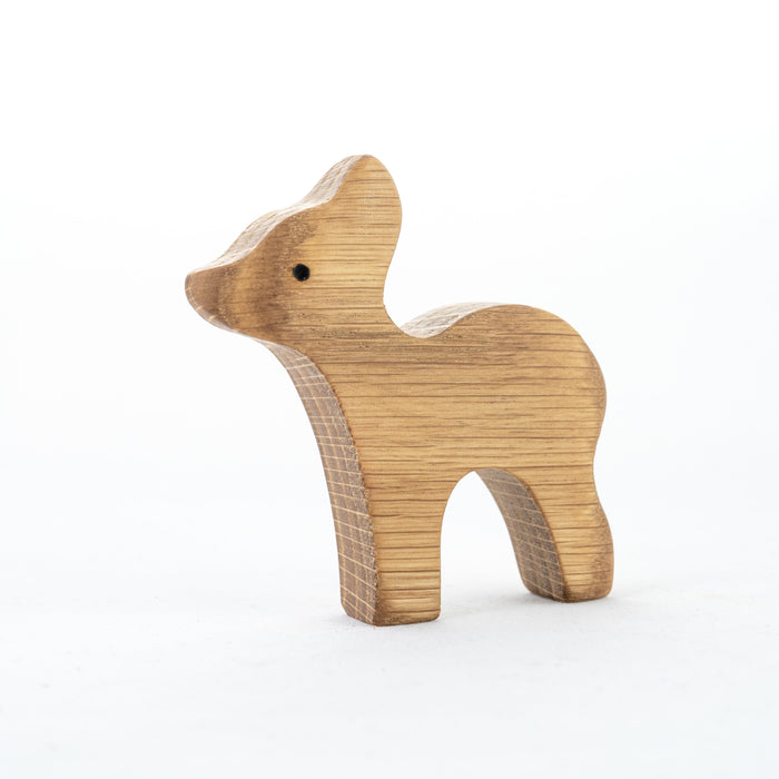 Natural Wooden Forest Animals set of 9 - PoppyBabyCo