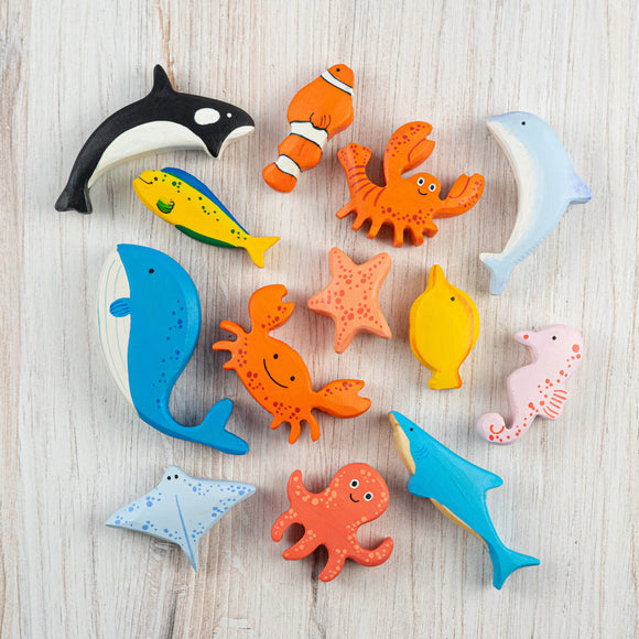Wooden Sea Creatures set of 13