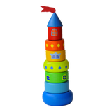 Wooden Stacking Toy - Small Castle - poppybaby