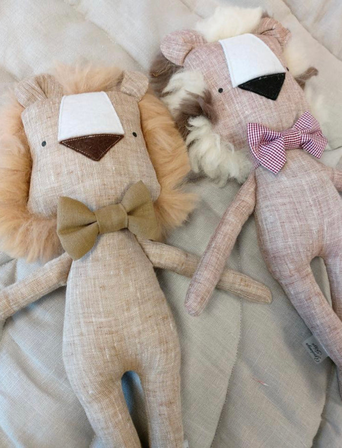 Handmade Stuffed Lion Toy