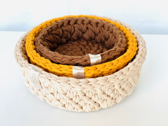 Crochet Bowl set of 3