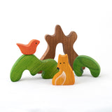 New Educational Wooden Tree Puzzle toy with Fox - poppybaby