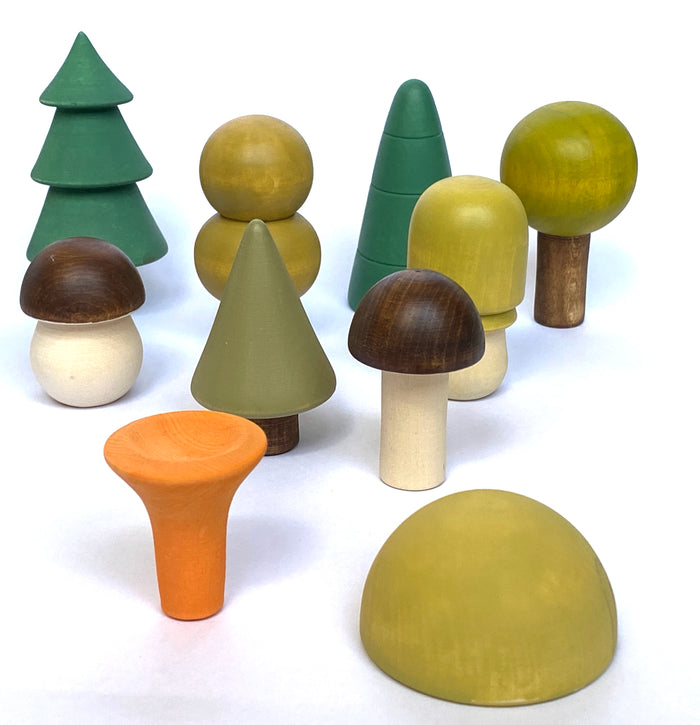 Wooden Trees For Display - Ten pieces
