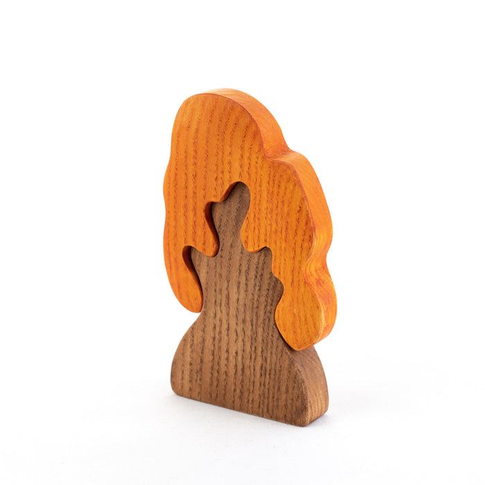 Wooden Autumn Oak Tree Puzzle - PoppyBabyCo