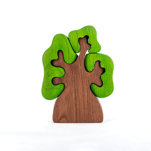 Wooden Tree with three crowns puzzle