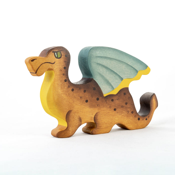 Waldorf Wooden Dragon Toy - PoppyBabyCo