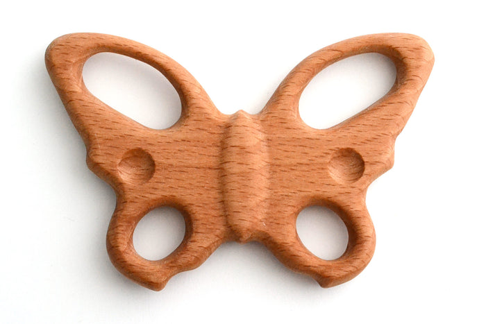 Organic Wooden Teether Butterfly