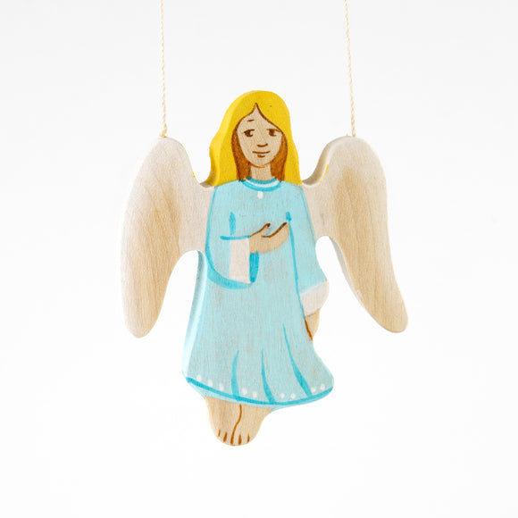 Waldorf Wooden Angel figurine toy - PoppyBabyCo