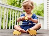 Waldorf Wooden Sheep Set painted- 4 pieces