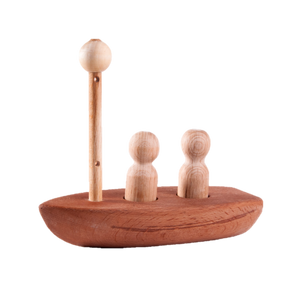 Organic wooden sailboat - poppybaby