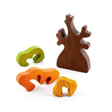 Wooden Autumn Tree with three crowns puzzle - PoppyBabyCo