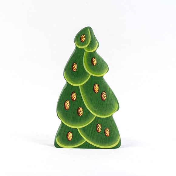 Waldorf Wooden Large Christmas Tree with Cones - PoppyBabyCo