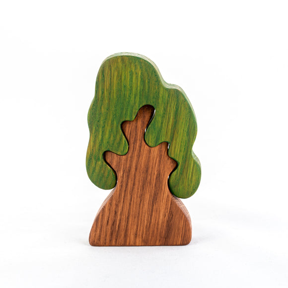 Wooden Oak Tree Puzzle - PoppyBabyCo