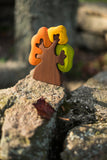 Wooden Autumn Tree with three crowns puzzle