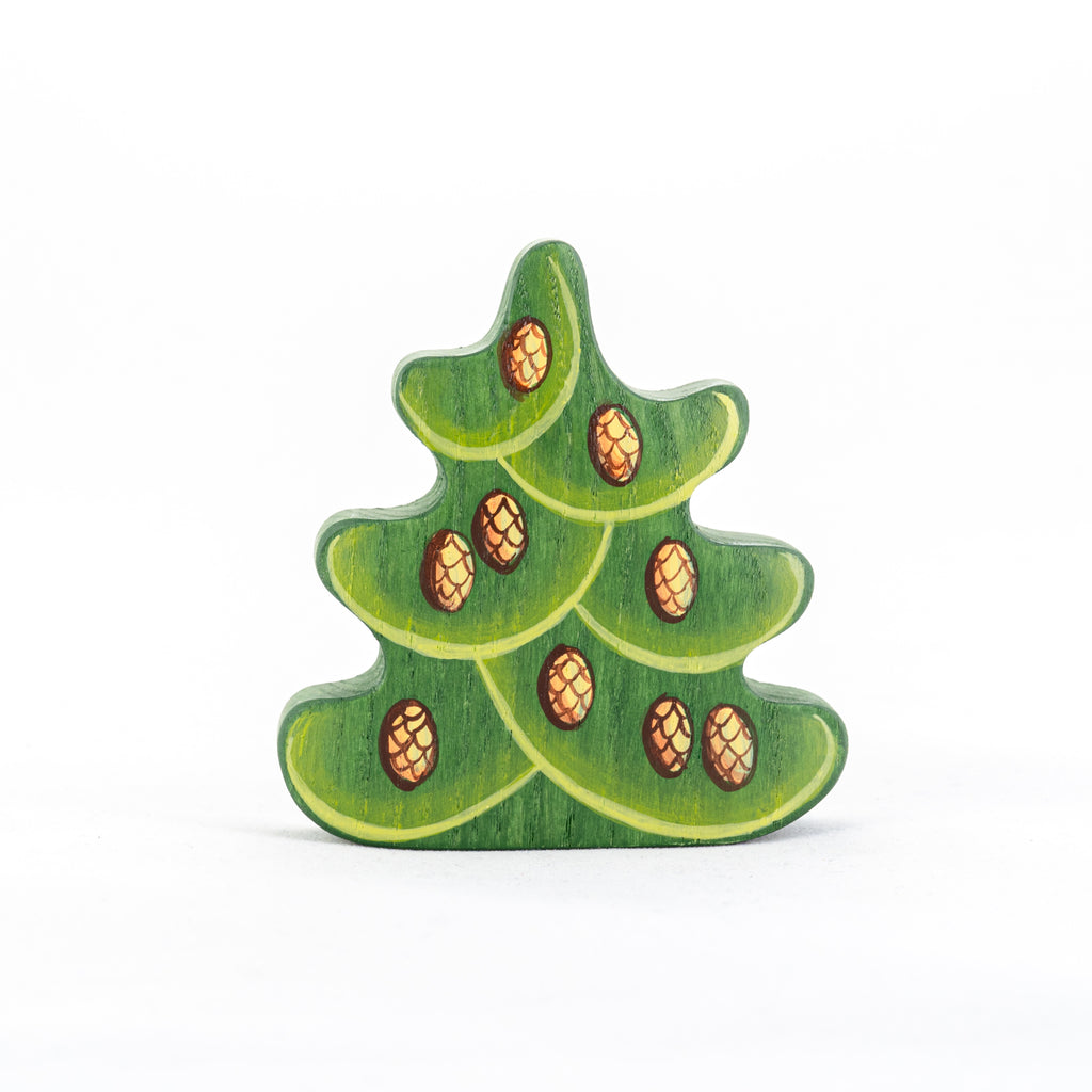 Wooden Small Christmas Tree with Cones - poppybaby