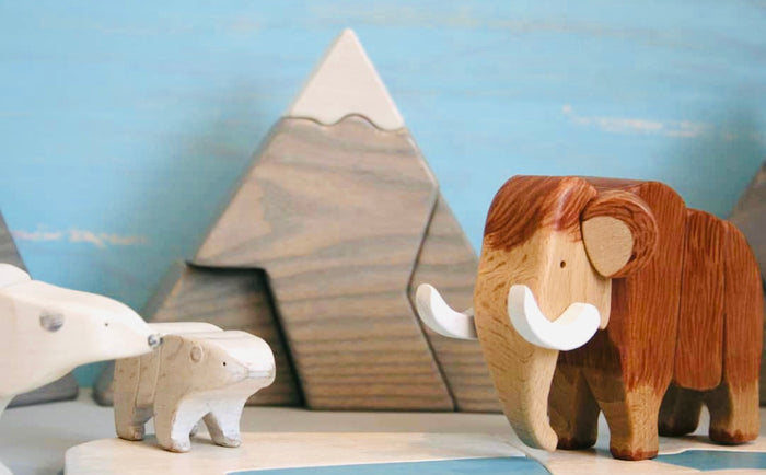 Wooden Arctic Scenery Board Toy