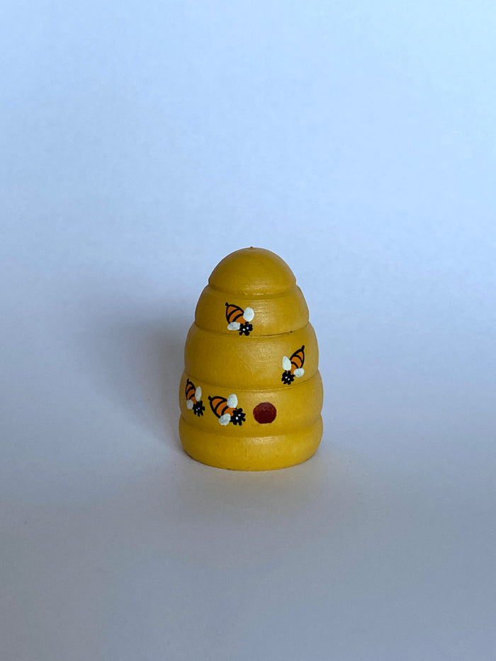 Wooden Beehive Figurine Toy