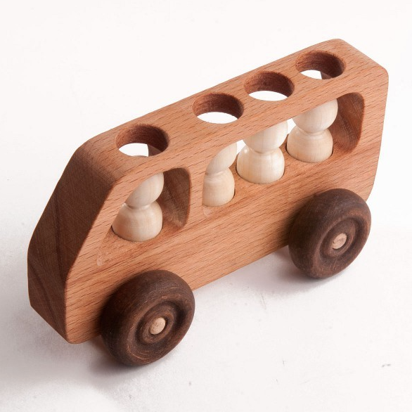 Wooden Toy Bus With Passengers