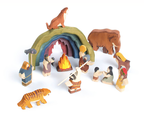 Wooden animals and figurines
