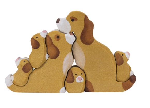 Wooden Dogs Toy Puzzle set