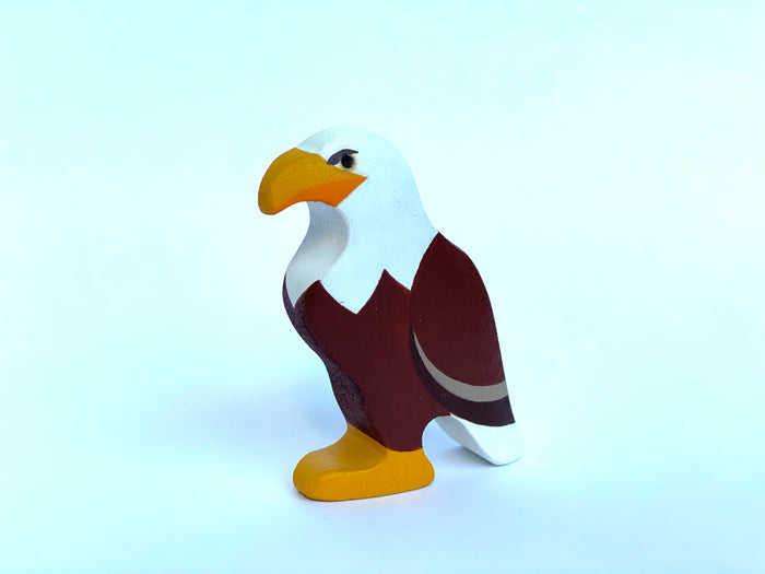 Wooden Eagle Figurine