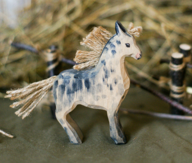 Wooden Horse Figurine Toy