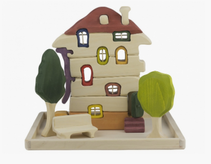 Wooden House Building Blocks Toy set