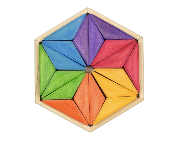 Wooden Rainbow puzzle Goethe Star