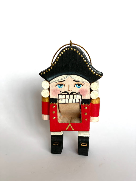 Handmade Wooden Christmas Ornament Nutcracker