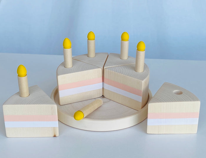 Toy Birthday Cake with Candles
