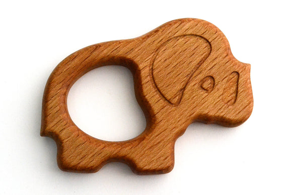 Organic Wooden Teether toy Elephant