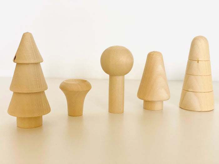 Natural Wooden mushroom Forest Set