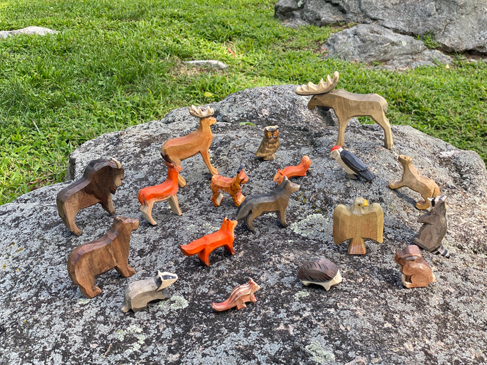 Wooden Forest Animals set of 15