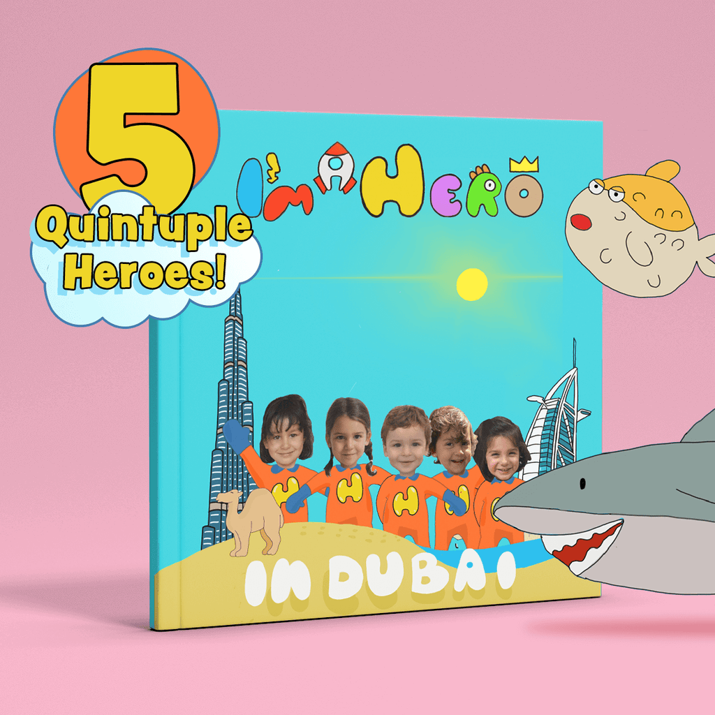 I'm a Hero in Dubai, Quintuple Heroes (5) – Personalised Story Book
