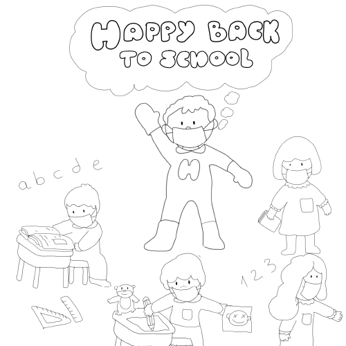 Back to School Colouring Sheet
