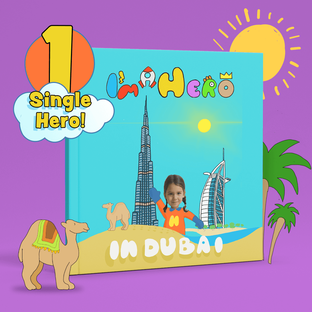 I'm a Hero in Dubai, Single Hero (1) – Personalised Story Book